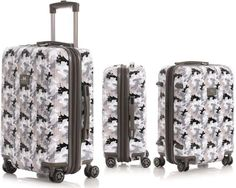 GRAY MICKEY MOUSE CAMOUFLAGE LUGGAGE CARRY-ON DISNEY TRAVEL SUITCASE-BAG
