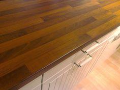 Wood laminate counte