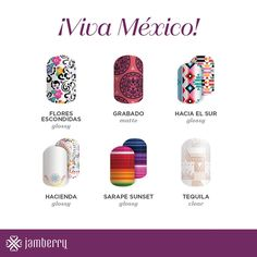 See Mexico inspired nail art from our around the world collection