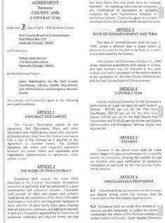 Lawn Care Contract -- Combo Estimate & Contract Form, $9.95 - Lawn ...