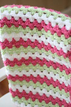Bebé ganchillo manta Granny manta raya en por DaisyCottageDesigns