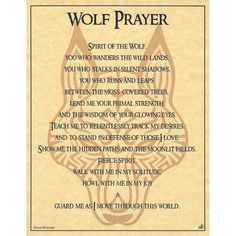 Wolf Prayer Parchment for Book of Shadows Page! pagan wicca witch in Collectibles, Religion & Spirituality, Wicca & Paganism Image Positive, Animal Spirit Guides, Wolf Spirit Animal, Wolf Quotes, Book Of Shadows, Spelling, Nativity, Inspirational Quotes, Words