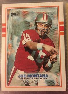 1989 Topps Joe Montana 12 s F 49ers Near Mint Combined s H   eBay