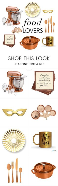 """""""What's cooking?"""" by humblechick1 ❤ liked on Polyvore featuring interior, interiors, interior design, home, home decor, interior decorating, KitchenAid, Ben's Garden, Kate Spade and B by Brandie"""