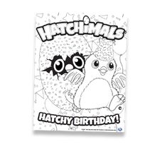 Print Hatchimals Happy Newyear 2017 Hatchy Coloring Pages