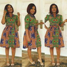 African Print Dress , Ankara ,Dashiki, Front open dress, African clothing for women African Dresses For Women, African Print Dresses, African Print Fashion, African Attire, African Wear, African Fashion Dresses, African Women, African Prints, African Outfits