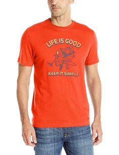 14765dd9 Men's Tried & True Adirondack Chill Crusher Tee - Flame Orange -  CC126050K05,Men's