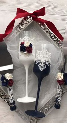 Navy Blue and Burgundy Wedding Champagne Flutes Bride And Groom Toasting Flutes Wedding Toasting Flutes and Cake Server Set Cake Serving Set - Wedding champagne glasses - Wedding Wine Glasses, Wedding Flutes, Wedding Bottles, Burgundy Wedding Cake, Cake Wedding, Wedding Navy, Wedding Recipe, Church Wedding, Decorated Wine Glasses