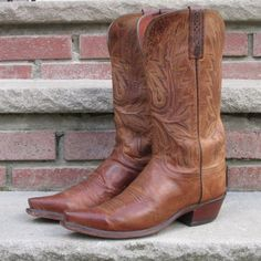 Lucchese N4540 Mad Dog Snip Toe Western Cowboy Boots Women's 7.5