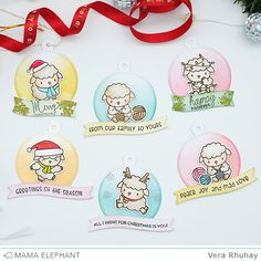 Hello there! I'm on Mama Elephant's blog and have holiday tags to be shared with you today!  Here, I'm using Mama Elephant stamps set fro...