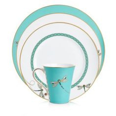 Prouna My Dragonfly Dinnerware Collection Home - Bloomingdale's Bernardo Y Bianca, French Country Collections, Dragonfly Decor, Glass Sink, Butterfly Art, Butterflies, Fine Porcelain, Porcelain Ceramics, Queen