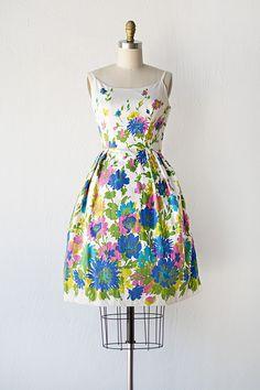 vintage 1960s sundress | 60s dress | Vivid Fields Dress