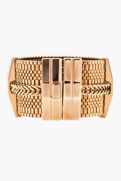 Lanvin Gold Chain Cuff
