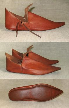 Medieval shoes Medieval Fashion, Medieval Clothing, Medieval Costume, Shoe Pattern, Leather Projects, Doll Shoes, Leather Working, Leather Shoes, Me Too Shoes