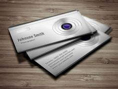 Featured Digital Camera Lens - Photography Business Cards