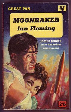 Moonraker by Ian Fleming. James Bond novel. Pan paperback. Cover art by the great Sam Peffer http://scottgronmark.blogspot.co.uk/2015/01/a-salute-to-sam-peffer-greatest.html
