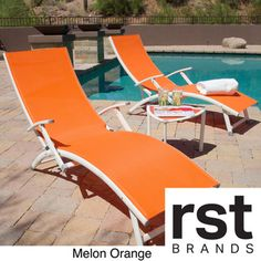 @Overstock - Sol Sling 3-piece Folding Chaise Lounge Set - Liven up your pool or deck with our Sol Sling loungers, featured in bright colors to pop out with vibrance in your outdoor space. Designed with comfort as a priority, the contoured back will have you lounging for hours on end.  http://www.overstock.com/Home-Garden/Sol-Sling-3-piece-Folding-Chaise-Lounge-Set/8789575/product.html?CID=214117 $197.99