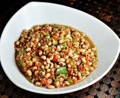 Texas caviar...make this on New Years day! (it has black-eyed peas in it)
