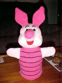 Puppet Patterns | Piglet Puppet Knitting Pattern