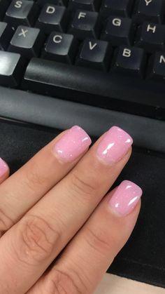Pink glitter dipped nails 💖 - Care - Skin care , beauty ideas and skin care tips Pink Nails, Glitter Nails, Pink Glitter, Pink Powder Nails, Glitter Pedicure, Cute Nails, Pretty Nails, Dip Nail Colors, Dipped Nails