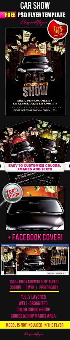 Car Show Flyer Template | Flyer Template, Cars And Graphics