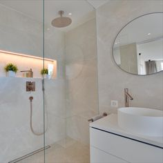 Home - Select Living Interiors Alcove, Bathtub, Mirror, Bathroom, Interior, Furniture, Design, Home Decor, Round Bathroom Mirror