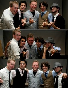 Matt Lang, Joey Richter, Dylan Saunders, Darren Criss, and Nick Lang. This picture makes me happy.