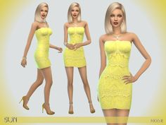 The Sims Resource: Sun dress by Paogae • Sims 4 Downloads