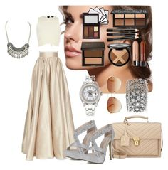"""""""50 shades of brown"""" by maisarahysmn on Polyvore featuring River Island, Mark Broumand, Jenny Packham, Yves Saint Laurent, Gypsy Soul, Tommy Hilfiger and Rolex"""
