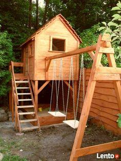 Drewniane domki ogrodowe dla dzieci