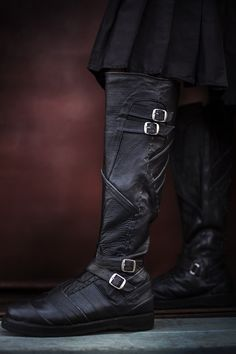 Vajra Moto Boots (with Hidden Pockets) - Verillas Moto Boots, Leather Boots, Riding Boots, Leather Armor, Over The Knee Boot Outfit, Knee High Boots, Ankle Boots, Big Men Fashion, Fashion Boots