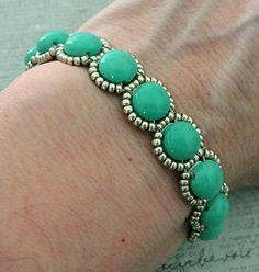 Linda's Crafty Inspirations: Bracelet of the Day: Candy Loops - Turquoise &…