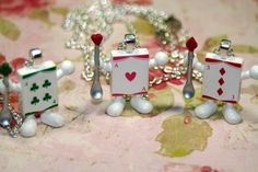 Crazy Cards Necklaces Choice Clubs, Hearts, Diamonds Layering Whimsy    shadesongs - Jewelry on ArtFire