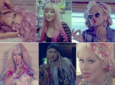 love love love the makeup and hair in Christina Aguilera's music video