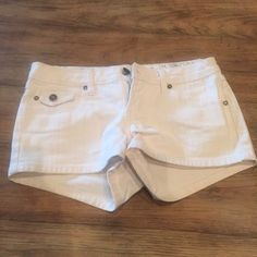 White shorts White denim shorts YMI Shorts