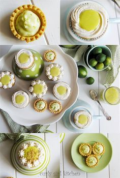 Key lime pie cupcakes and key lime cream cheese tarts