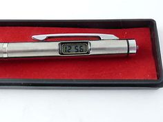 Vintage Boxed Digital Watch Pen From the Retro Xmas Stocking Filler