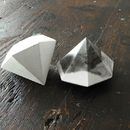 This handmade concrete diamond can be use as paperweight or as a jewelry stand. Turn it upside down and use it as a minimal geometric sculpture or between books.  Available in white, light gray,...