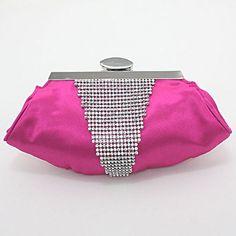 V-Shaped Crystal Evening Clutch Bag / 221708