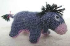 how to: knitted Eeyore