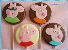 Bolo Matilda, Matilda Cake, Bolo Da Peppa Pig, Cumple Peppa Pig, Pig Cupcakes, Chocolates, George Pig, Candy Pop, Rose Cake