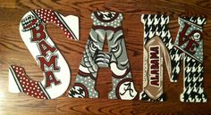Alabama Crimson Tide Custom Hand Painted Door Hanger/Letter/Wall Art #Alabama