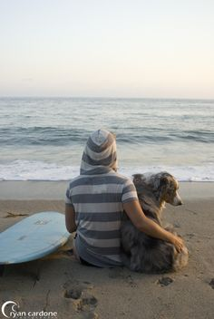 Sometimes a lack of waves can be a good thing... particularly if it means spending time with you furry best friend. #lovethatpet