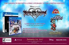 Kingdom Hearts HD 2.8: Final Chapter Prologue Limited Edition announced Kingdom Hearts HD 2.8: Final Chapter Prologue will come out on January 24 2017 exclusivelyon the PlayStation 4. Square Enix recently revealed a Limited Edition version of the game thatwill include a Disneys Collector Pin featuring Sora and Mickey along with a limited edition box. Anyone who pre-ordersthe game will be upgraded to the limited edition for free and will be available while supplies last. Its going to be a…