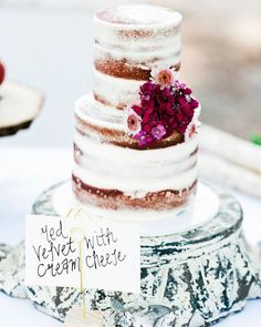 We're in love with these pretty semi-naked wedding cakes that are the perfect combo of rustic and effortlessly chic minimal icing. Top it with fresh flowers and you have a lovely combo that's pretty and edible! Naked wedding cakes are still very much on trend, however, the added touch of ic