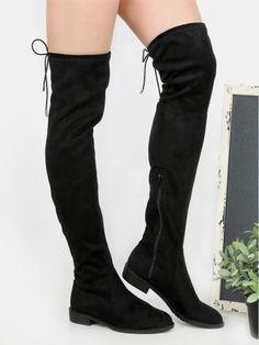 Botas con tacón bajo - negro