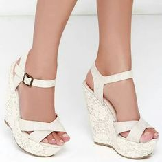 866bb1d21f29e Breeze Ivory High Wedge  Bridal  Flipflops w  Sequins   Crystals for  24.70  only!  wedding  weddingplanning  b…