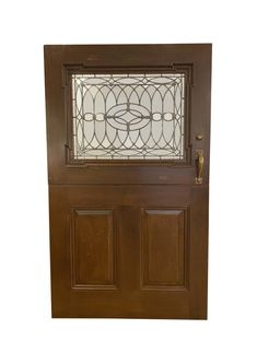 1900s Leaded Glass Window 2 Pane Wood Dutch Door 80 x 47.5 Exterior Entry Doors, Interior And Exterior, Arched Doors, Dutch Door, Antique Interior, Antique Doors, Pocket Doors, Leaded Glass, Closet Doors