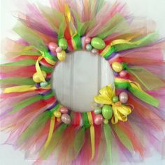 Cute Easter wreath idea