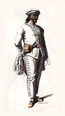 Zanni, a typical peasant in Commedia dell'Arte